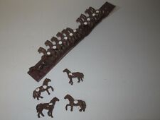 HO Scale Brown Circus Horses (15pcs) on Strip (lot D)