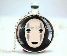 Spirited Away, No Face, Studio Ghibli Necklace with glass pendant, anime, manga
