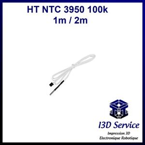 Thermistor High Temperature HT Ntc 3950 100K - up to / Until +350°C - L=1m Or 2m