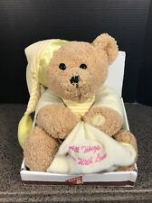 Dakin Brown Prayer Bear All Things Grow With Love Blanket Lay Me Down NEW!!