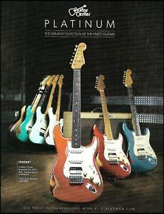 Fender Custom Shop Imperial Arc HSS Relic Stratocaster Platinum Series Guitar Ad