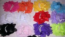 Joblot 36 Women Girls Chiffon Flower Foam Hair Clip  New Wholesale