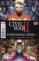 Civil War II Choosing Sides Comic Issue 1 Modern Age First Print 2016 Shalvey