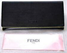 0387c353dc00 FENDI 2017 Style Eyeglasses Glasses Leather Hard Case ONLY Black and Yellow   NEW