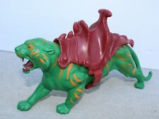 Vintage MotU 1981 Battle Cat He-Man Masters of the Universe Green Tiger w Saddle