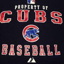 Property Of Cubs Baseball Medium Navy T-Shirt MLB Chicago Authentic
