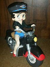 NIB Betty Boop Motorcycle Figurine Bank #6977 Westland Giftware
