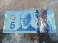 Canadian $5 Dollar Bank Note Polymer Bill IND7987061 Circulated 2013 Canada