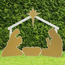 Outdoor Nativity Store Holy Family Outdoor Nativity Set (Standard, Gold)