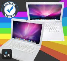 "APPLE MACBOOK POWERFUL 80-120GB HDD 2GB RAM A1181 13.3"" OSX WEBCAM WHITE SALE"