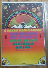 Vtg NOS Original Peter Max Penneys Rainbow Lane Mary Quant Victoire Ariel Poster