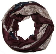 hochwertger ★ AMERIKA ★ USA batik Sterne Loop Schal ★ Stern beige blau