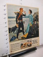 newspaper ad 1962 Miss Rheingold beer pinup girl Kathy Kersh scuba diving suit