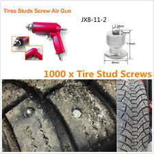1000x Car Tires Screw Snow Spikes Stud For ATV Motorcycle Tire Nail+Air Gun Tool