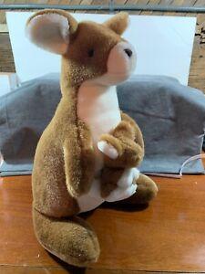 "Kangaroo Fiesta Plush w/ Baby 16"" Toy Stuffed Animal Very Nice"
