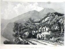 """Lithographie - Godefroy ENGELMANN, """"Hôtellerie près de Locarno"""" Tessin"""