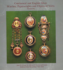 Sotheby's- Watches, Paperweights, Objects of Vertu-Baccarat, Tiffany, Perthshire