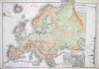 1867 Droiux Antique Map of Europe