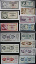 YUGOSLAVIA Paper Money Set of 7 Pieces UNC