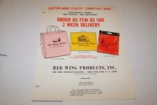 Vintage - RED WING PRODUCTS advertising bags - ad sheet #0542