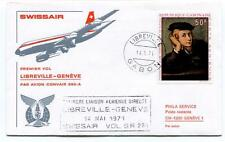 FFC 1971 Swissair First Flight Convair 990 A SR 261 Libreville Gabon Geneve