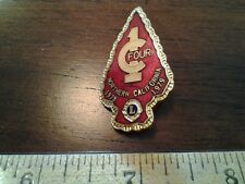 1978 1979  LIONS CLUB COLLECTORS PIN FOUR C 1 NORTHERN CALIFORNIA PINE TREE