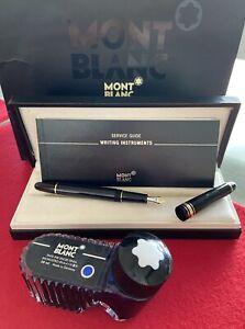 Montblanc Meisterstück Füller 14 K Feder Modell 145 mit OVP Service Guide +Tinte