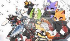 Custom Yugioh Playmat Play Mat Large Mouse Pad Naruto Akatsuki Cat Meow #402