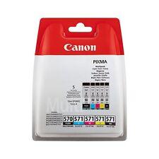 Canon PGI-570BK CLI-571C/M/Y/BK Black & Colour Cartridges FREE Next Day Delivery