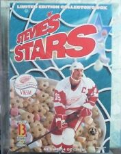 RARE Steve Yzerman Stevie's Stars Unopened Limited Ed Cereal Box &Case Red Wings