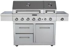 KitchenAid 6-Burner Dual Chamber Propane Gas Grill in Stainless Steel with Side