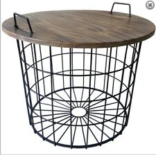 Wood/Metal Table with Removable Top