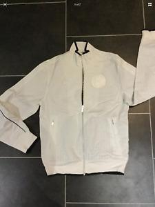 Nike FFF France Luxury Varsity Bomber Jacket Baseball Sz Small white navy coat