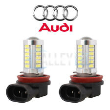AUDI Bright CANBUS LED Front Fog Light H11 31w 33 SMD lens White Bulbs