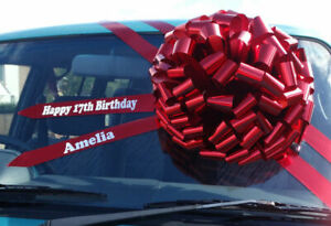 BIG CAR BOW - Giant, Extra Large Bow New Cars, Birthday Presents, Not a Pull Bow