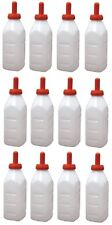(12)  Fairchild #  972 Advance 2 Qt Calf / Livestock Snap Feeder Nursing Bottles