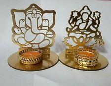 Combo of Ganesh Ji and Luxmi Ji Shadow Lamps tealight candle holder stand.
