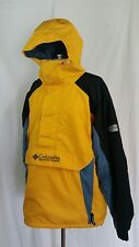 Columbia Yellow Black Blue Pullover Parka Jacket Size L