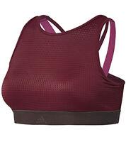 adidas Women's Training Halter Bra 2.0, Noble Maroon/Night Red, XL