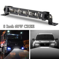 8'' 60W Cree LED Work Light Bar Spot Beam Offroad 4WD UTE SUV Fog Driving Lamp