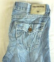 TRUE RELIGION Womens Lt Wash Liv Destroyed Low Rise Relaxed Skinny Jeans 28 x 26