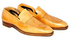 GREAT RICHARD JAMES SAVILE ROW SUMMER LOAFERS SHOES BEIGE LEATHER  9.5 E