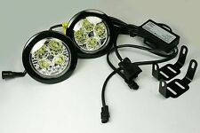 TRUCK LORRY VAN DRL PROFESIONAL ROUND FOG LIGHTS SUPER BRIGHT 24V