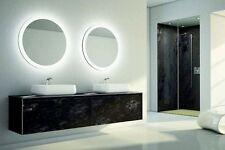 2 LARGE ROUND LED Bathroom Make Up Mirror