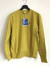 CHAMPION REVERSE WEAVE Logo Sweatshirt Mustard Size M