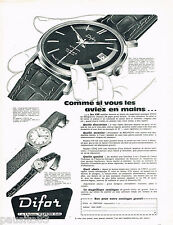 PUBLICITE ADVERTISING 075  1959  les montres DIFOR AUTOMATIC