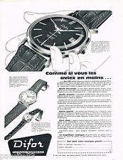 PUBLICITE ADVERTISING 075  1959  les montres DIFOR AUTOMATIC