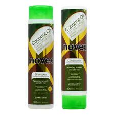"""Novex Coconut Oil Shampoo & Conditioner 300ml (10.1oz) """"Duo"""" w/Free Nail File"""
