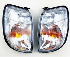 Pair Front Corner Turn Signal lamp Light for NISSAN NAVARA FRONTIER D22 98 99 00