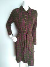 BODEN casual shirt dress size 14P --USED ONCE-- long sleeve knee length retro